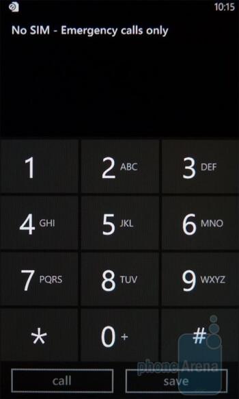 Dialpad - The on-screen keyboard of the LG Quantum - LG Quantum vs Samsung Focus