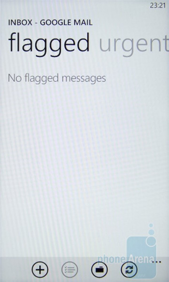 The email client of the HTC 7 Mozart works great - HTC 7 Mozart Review