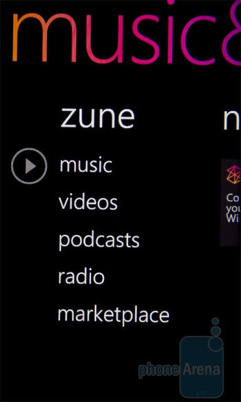 Zune is on board - HTC 7 Mozart Review
