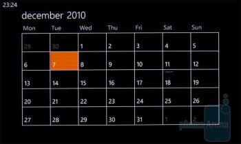 Calendar - HTC 7 Mozart Review
