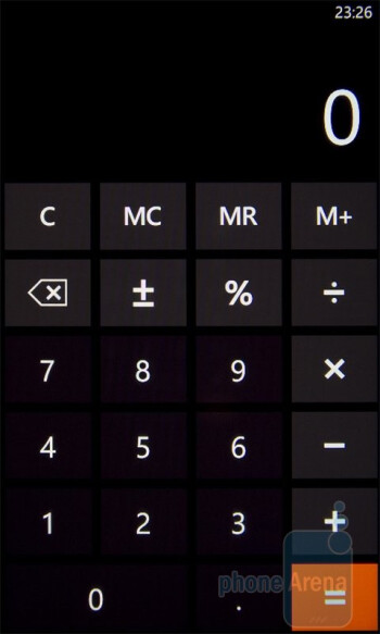 Calculator - HTC 7 Mozart Review
