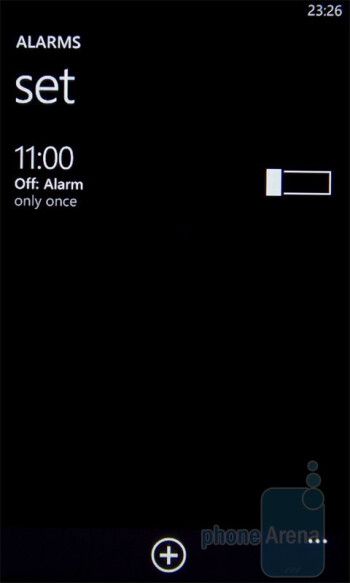 Alarms - HTC 7 Mozart Review