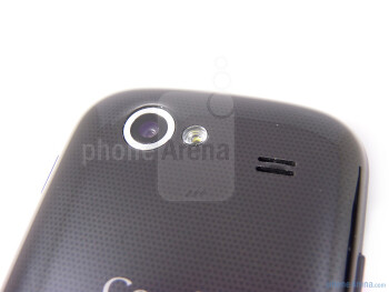 On the rear, we see the 5-megapixel auto-focus camera and the LED flash sitting close by - Google Nexus S Review
