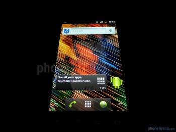 "The 4"" Super AMOLED display offers good viewing angles - Google Nexus S Review"