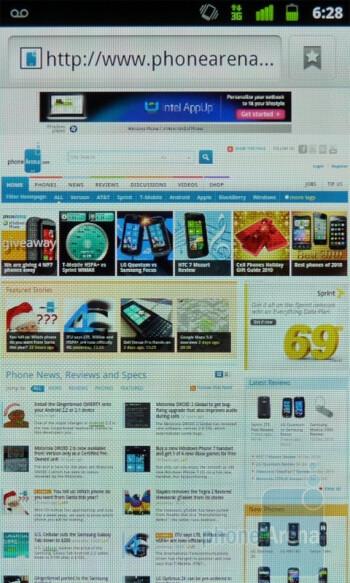 Web browsing with the Google Nexus S - Google Nexus S vs Samsung Focus
