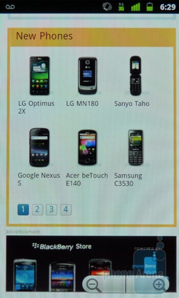 Web browsing with the Google Nexus S - Google Nexus S vs T-Mobile myTouch 4G