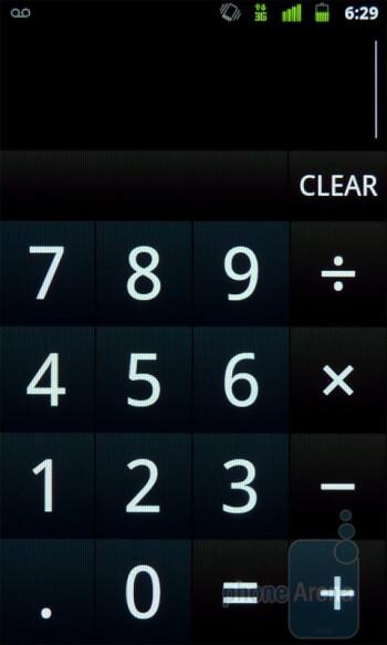 The calculator app - Google Nexus S Review