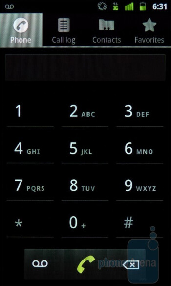 Dialer - The phonebook  of the Google Nexus S is unchanged - Google Nexus S Review