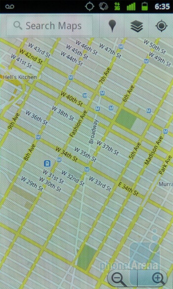 The new Google Maps offers 3D rendering views on buildings - Google Nexus S Review