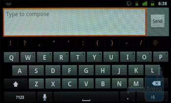 The stock Android 2.3 keyboard on the Google Nexus S - Google Nexus S vs Samsung Epic 4G