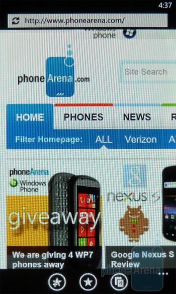 Web browsing - Dell Venue Pro Review