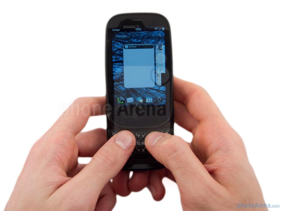 The Palm Pre 2 has a pebble like design - Palm Pre 2 Review