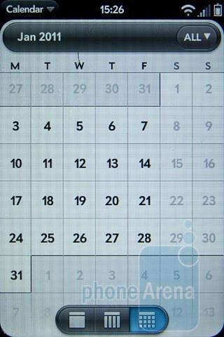 The calendar of the Palm Pre 2 - Palm Pre 2 Review