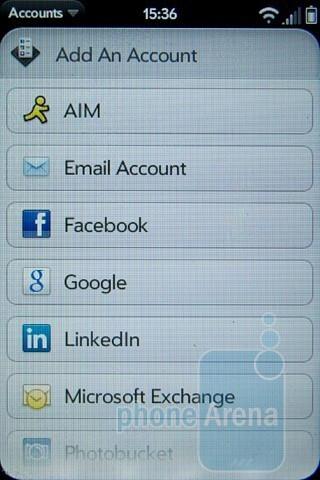 Adding accounts - Palm Pre 2 Review