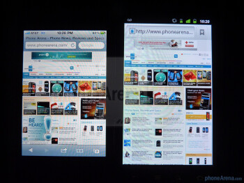 The Apple iPhone 4 (L) and the Google Nexus S (R) - Google Nexus S vs Apple iPhone 4