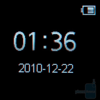The clock of the Sony Ericsson LiveView - Sony Ericsson LiveView Review