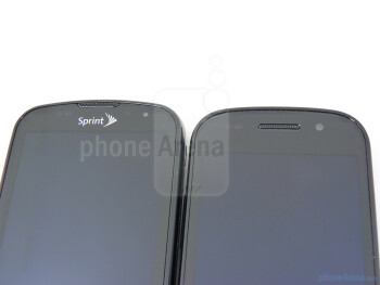 Front-facing cameras - The Google Nexus S (top, right) and the Samsung Epic 4G (bottom, left) - Google Nexus S vs Samsung Epic 4G