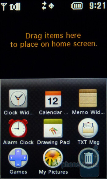 The homescreen of the LG Cosmos Touch - LG Cosmos Touch Review