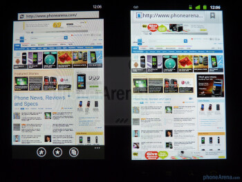 The Samsung Focus (L) and the Google Nexus S (R) - Google Nexus S vs Samsung Focus
