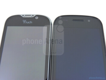 Front-facing cameras - The Google Nexus S (top, right) and The T-Mobile myTouch 4G (bottom, left) - Google Nexus S vs T-Mobile myTouch 4G