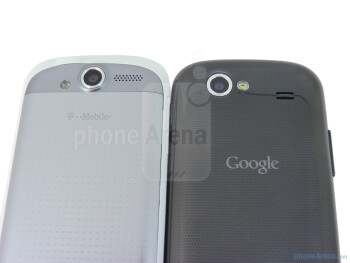 The Google Nexus S (right) and the T-Mobile myTouch 4G (left) - Google Nexus S vs T-Mobile myTouch 4G