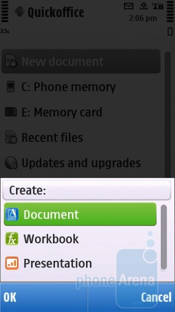 The Nokia C5-03 comes with Quickoffice - Nokia C5-03 Review