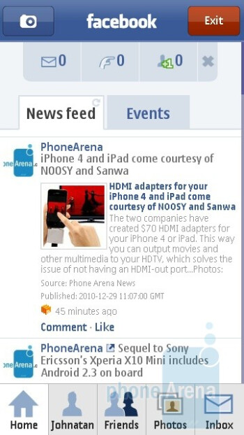 Facebook client - The Nokia C5-03 comes with Quickoffice - Nokia C5-03 Review