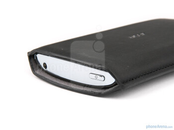 The Acer Liquid Metal in the provided pouch - Acer Liquid Metal Review