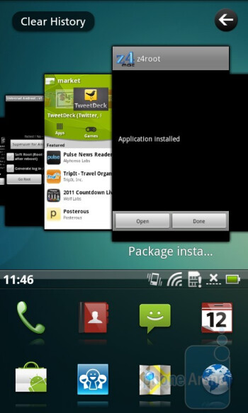 The Acer Breeze UI of the Acer Liquid Metal - Acer Liquid Metal Review