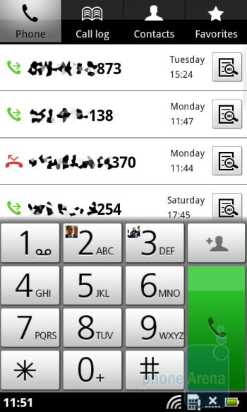 Dialpad - The Contacts app has the obligatory social networking integration - Acer Liquid Metal Review