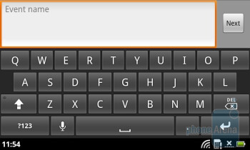 QWERTY keyboard - Acer Liquid Metal Review