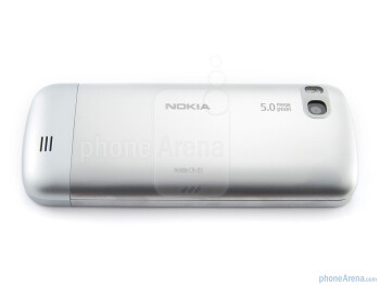 The back of the Nokia C3 Touch and Type - Nokia C3 Touch and Type Review
