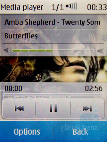 Music player - Nokia C3 Touch and Type Review