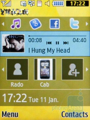 The music player of the Samsung C3530 - Samsung C3530 Review