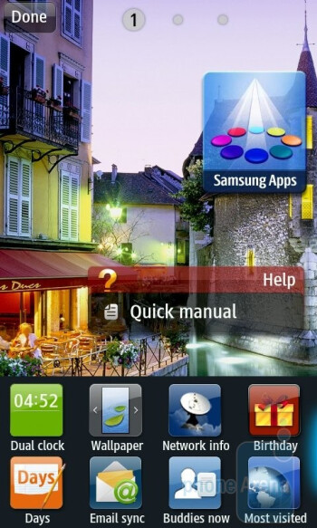 The interface of the Samsung Wave II - Samsung Wave II Review
