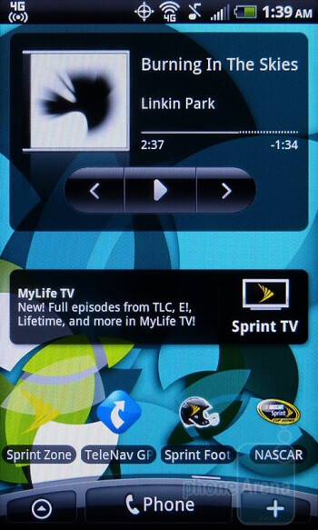 "The HTC EVO Shift 4G has 7 homescreens - HTC's ""Scenes"" are essentially pre-made themes for your homescreen - HTC EVO Shift 4G Review"