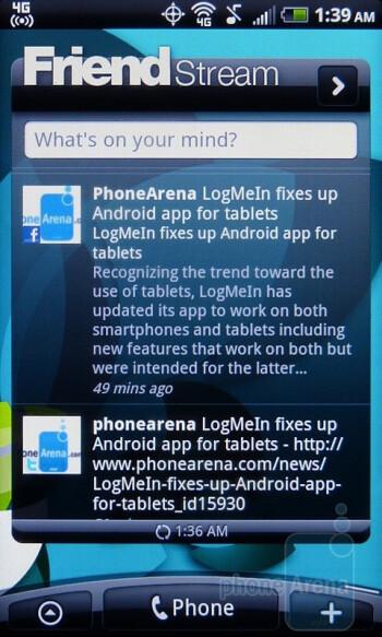Friend Stream app - The HTC Footprints app - HTC EVO Shift 4G Review