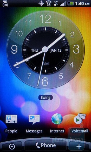 "HTC's ""Scenes"" are essentially pre-made themes for your homescreen - HTC EVO Shift 4G Review"