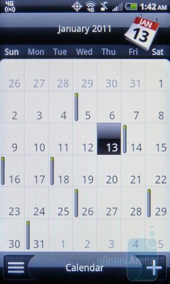 Calendar - HTC EVO Shift 4G Review