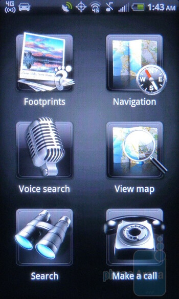 Telenav GPS Navigation - The HTC EVO Shift 4G includes the usual set of Sprint apps - HTC EVO Shift 4G Review