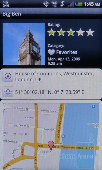 The HTC Footprints app - HTC EVO Shift 4G Review