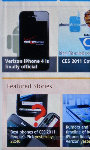 The stock browser provides that desktop like feel - HTC EVO Shift 4G Review