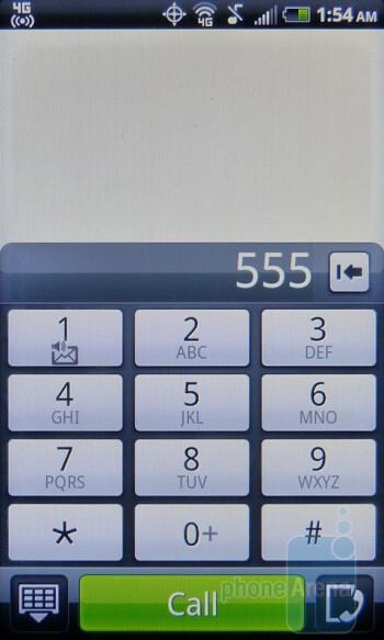 Dialer - HTC EVO Shift 4G Review
