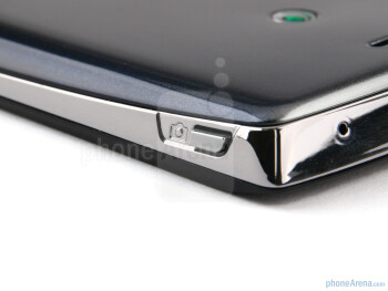 Camera shutter key - The back of the Sony Ericsson Xperia arc - Sony Ericsson Xperia arc Preview