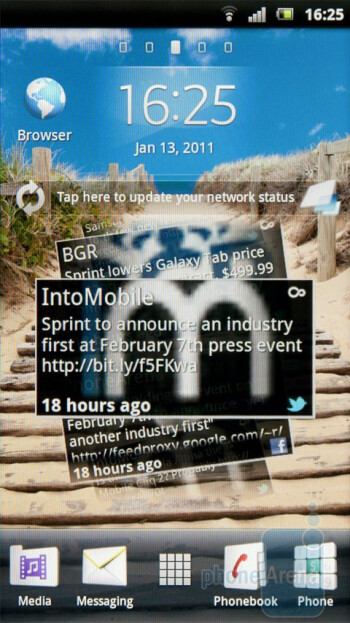 The Timescape function is a card-based system - Sony Ericsson Xperia arc Review