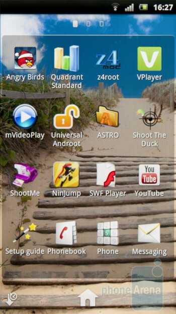The app drawer of the Sony Ericsson Xperia arc - Sony Ericsson Xperia arc Preview