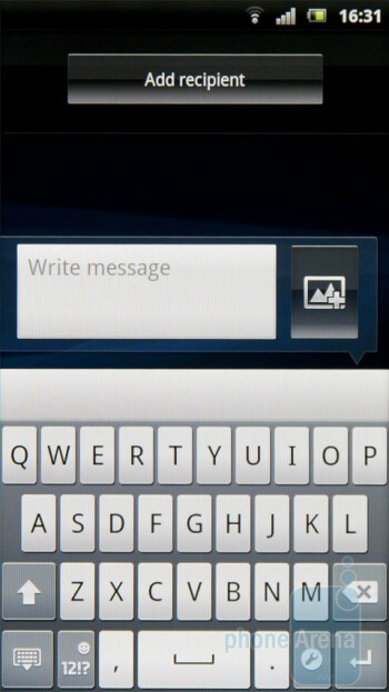 The on-screen keyboard of the Sony Ericsson Xperia arc - Sony Ericsson Xperia arc Review