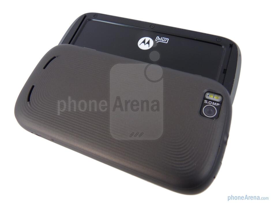 The back side of the Motorola CLIQ 2 - Motorola CLIQ 2 Review