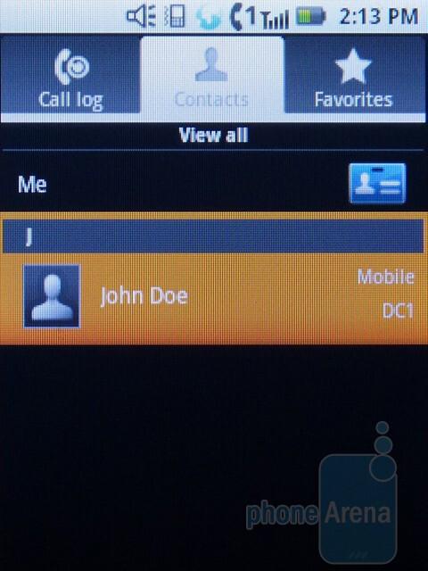 Phonebook - Motorola i886 Review
