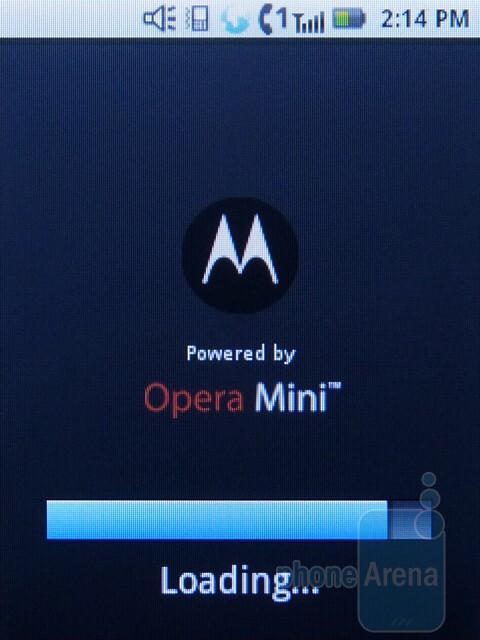 Opera Mini - Motorola i886 Review